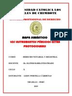 INSTRUMENTOS PÚBLICOS NOTARIALES