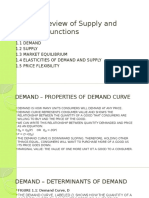 Topic 1 Review of Supply and Demand Functions
