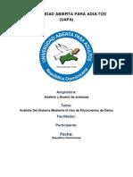 Analisis Del Sistema Mediante El Uso de Diccionarios de Datos