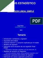 Analisis Estadistico - Regresion Lineal Simple