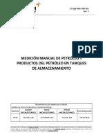 Co-sen-m&L-pro-002 Rev. 3 Medición Manual de Petróleo y Productos Del Petróleo en Tanques