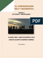 México. Configuración Histórica y geográfica. Actividad Migraciones