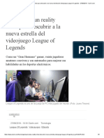 ESPN lanza un reality show centrado en el  videojuego League of Legends