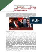 Poder Judicial declara improcedente incautación de celulares de Alan García