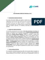 Cuestionario Derecho Procesal Civil i