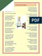 Ave Maria de Fatima - Color