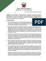 JNE aprueba cronograma electoral para elecciones congresales 2020