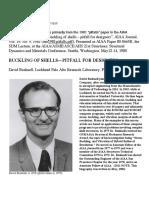 Bushnell - Buckling of Shells - Pitfall for Designers