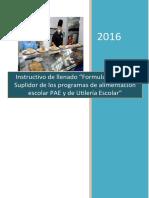 Instructivo llenado formularios Suplidor del PAE-SUIBEN.pdf