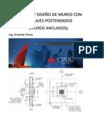 Analisis y Diseño de Muros Con Anclajes Postensados