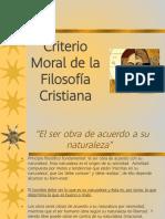 3. Criterio Moral Filosofía Cristiana