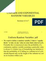 Lec11 UNIFORM AND EXPONENTIAL RANDOM VARIABLES.ppt