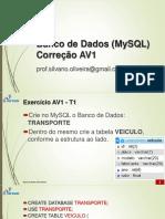 Bd03-Banco de Dados - Mysql - Exercicio Av1