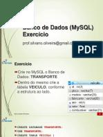 Bd04-Banco de Dados - Mysql - Exercicio