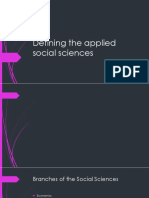 Defining the Applied Social Sciences