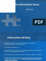 theinformativeessay-110609110530-phpapp02