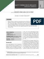 La Posesion Precaria en El Peru