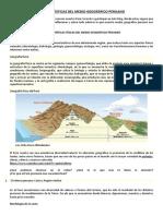Características Del Medio Geográfico Peruano