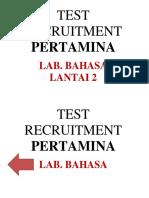 Test Recruitment