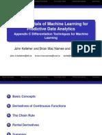 Appendix C Differentiation Techniques for Machine Learning