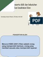 407093960 Klien Sebagai Peserta Didik Dan Kebutuhan Pendidikan Kesehatan