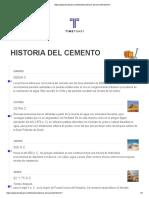 HISTORIA DEL CEMENTO LINEA DEL TIEMPO