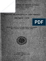 Municipal Organisations in America Latina Mexico City 1909