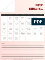 July Free Content Calendar Ideas