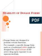 Stability of Dosage Forms (1)