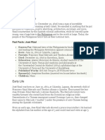 Biography of Jose Rizal (1)