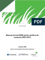 Manual privind ESM pentru politica