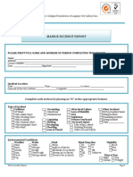 Template of Marine Incident Report