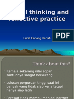 Reflective practice & critical thinking.ppt