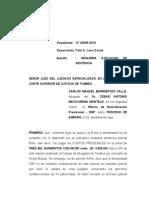 Ultimo Requerimiento Del Pago de Los Costos Procesales de Cesar Maticorena Onp