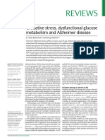 Oxidative Stress, Dysfunctional Glucose Metabolism and Alzheimer Disease 2019 Review