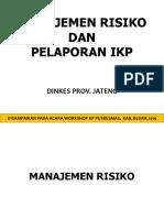 H1 Managemen Risiko Dan Pelaporan IKP
