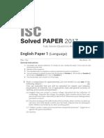 English 12th 2017 Paper I