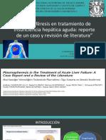 Plasmaféresis en Tratamiento de Insuficiencia Hepática Aguda