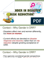 Why Gender in DRR