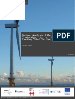 Master Thesis - Fatigue Analysis of the Column-Pontoon Connection in Semi-Submersible Floating Wind Turbine (T.I. Marin 2014)