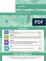 Key Opinion Leaders Proposal