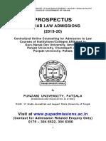 Prospectus of Law 2019-20