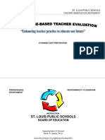 Teacher Evaluation Report
