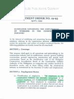 Department Order No. 19-93