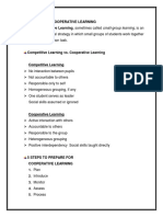 Conducting Cooperative Learning Report Outline