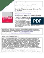 1-Stress-Strain Behaviors and -Tworks Studies of Natural Rubber-Zinc Dimethacrylate Composites