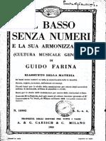 Farina - Il Basso Senza Numeri