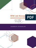 MTM Lab Manual