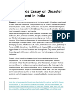 1530 Words Essay on Disaster Management in India