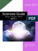 MYP5 M5 Sciences Guide 2019-2020